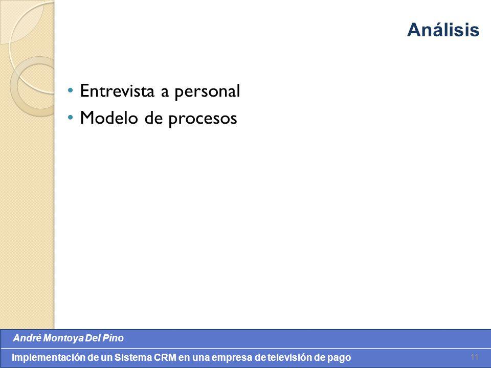 Análisis Entrevista a personal Modelo de procesos