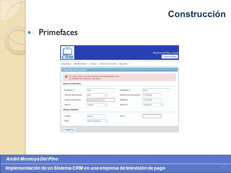 Construcción Primefaces