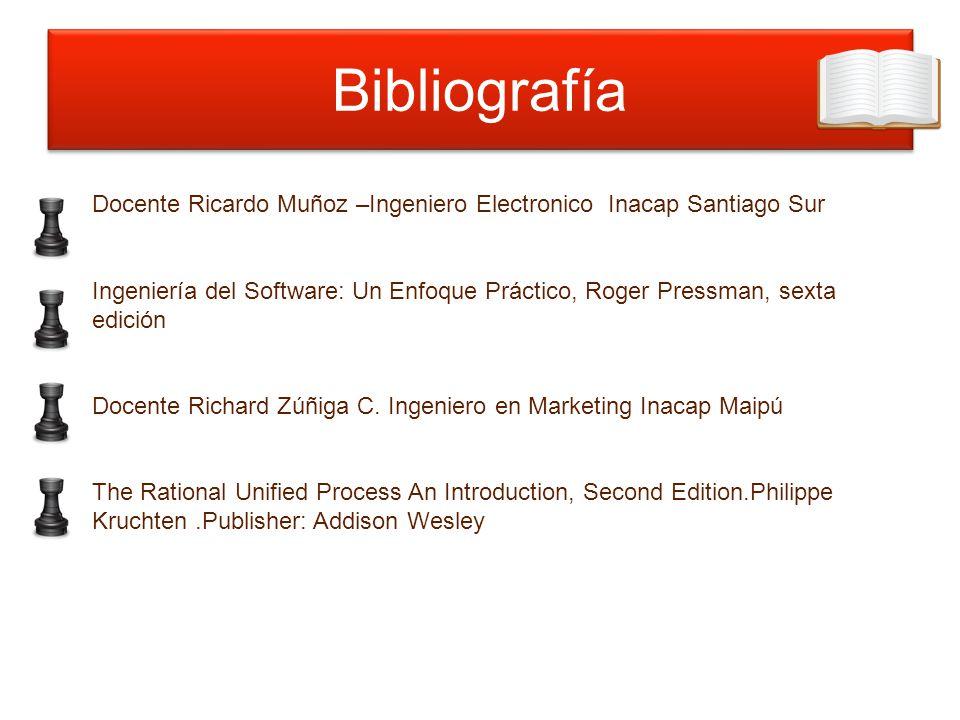 Bibliografía Docente Ricardo Muñoz –Ingeniero Electronico Inacap Santiago Sur.