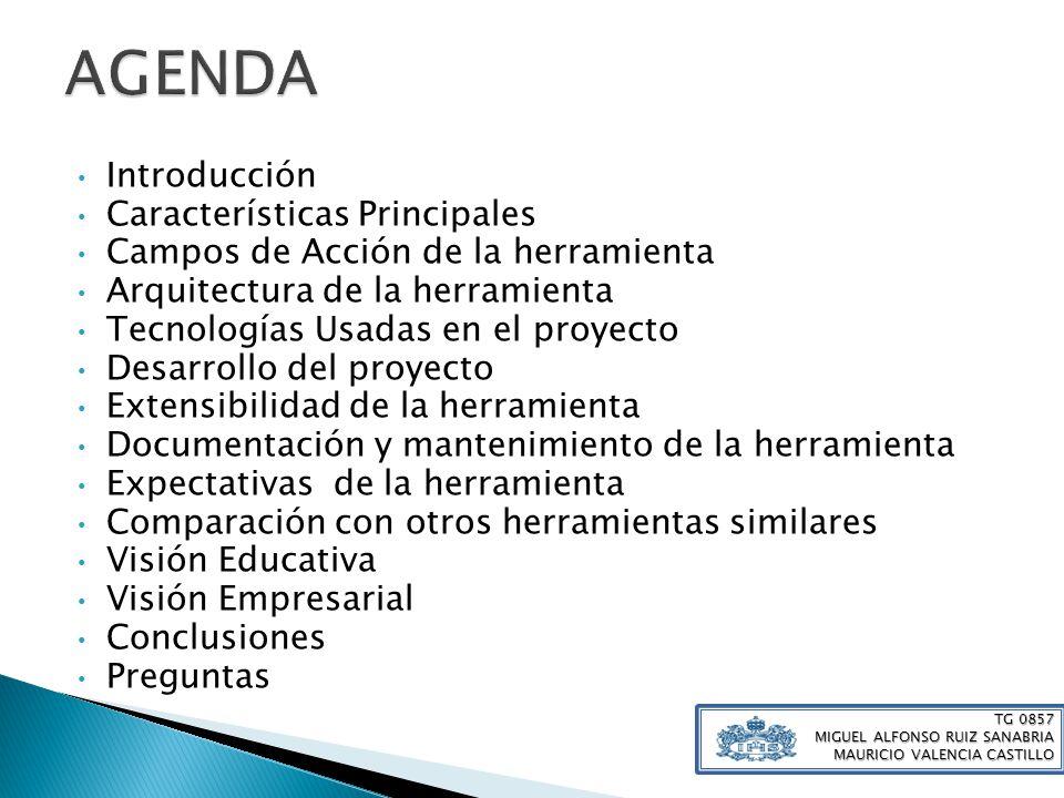 AGENDA Introducción Características Principales