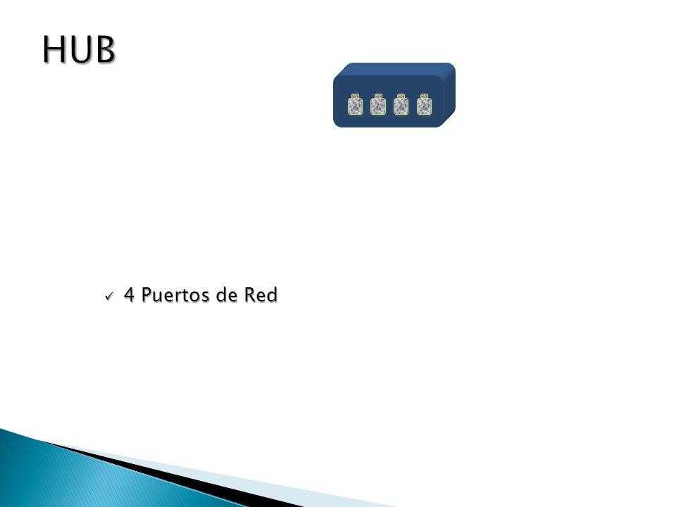 HUB 4 Puertos de Red