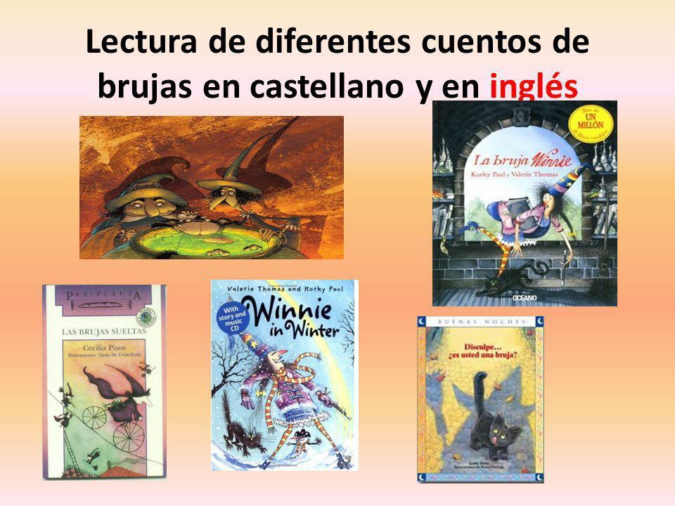 Lectura de diferentes cuentos de brujas en castellano y en inglés