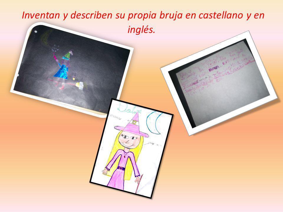 Inventan y describen su propia bruja en castellano y en inglés.
