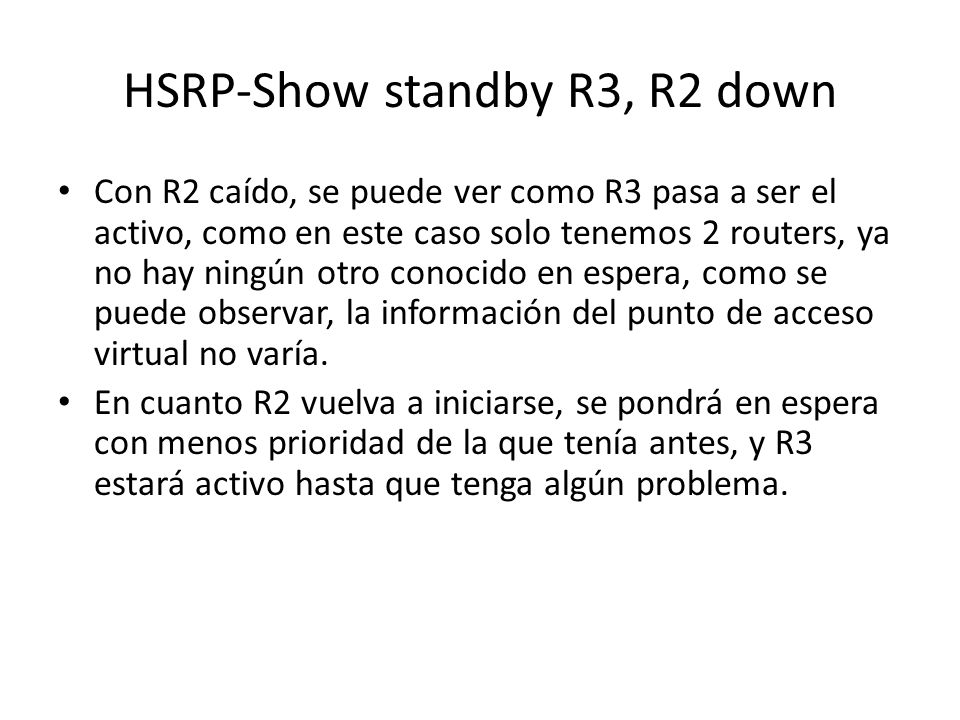 HSRP-Show standby R3, R2 down