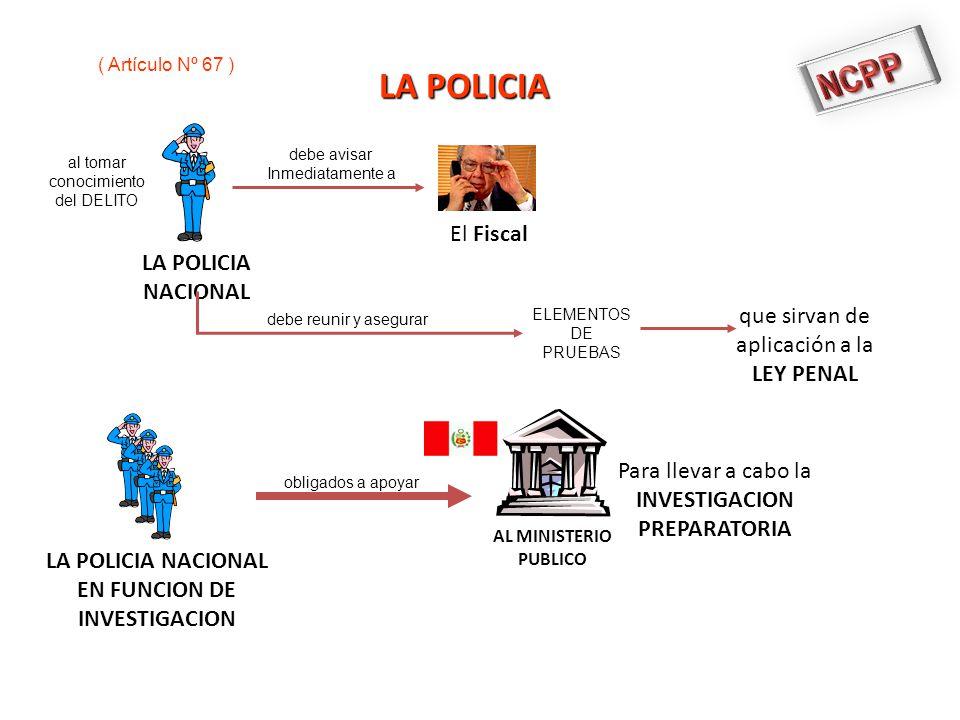 NCPP LA POLICIA El Fiscal LA POLICIA NACIONAL que sirvan de