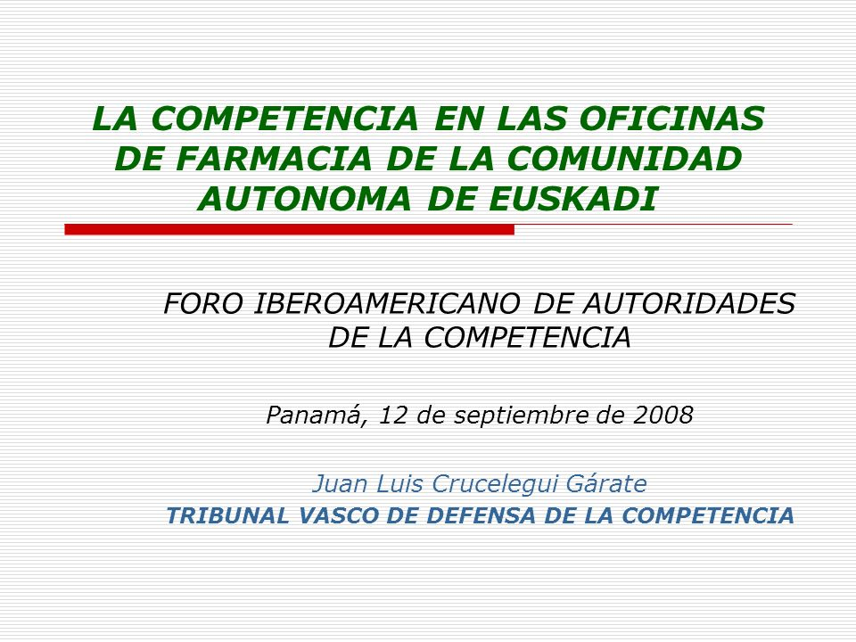 TRIBUNAL VASCO DE DEFENSA DE LA COMPETENCIA