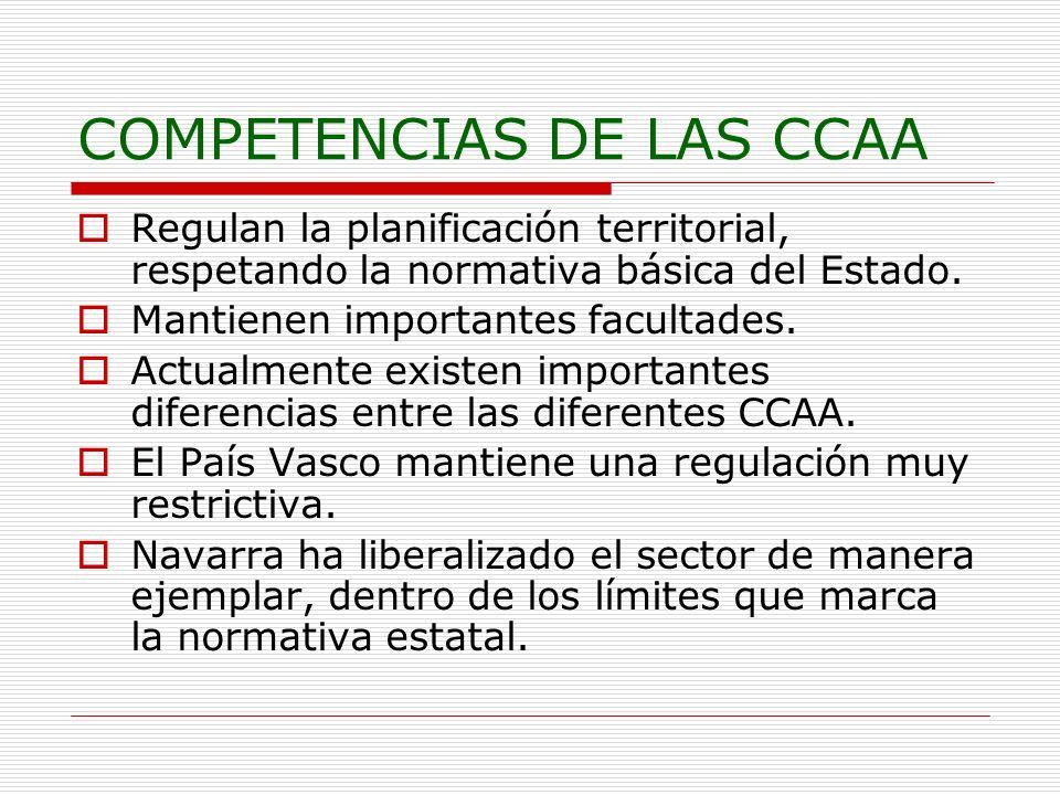 COMPETENCIAS DE LAS CCAA