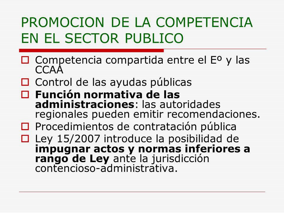 PROMOCION DE LA COMPETENCIA EN EL SECTOR PUBLICO