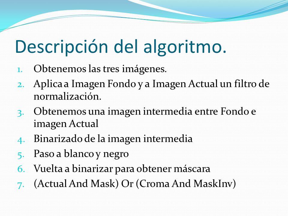 Descripción del algoritmo.