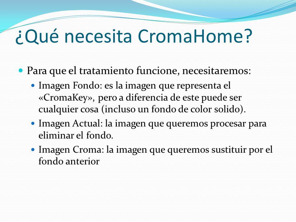 ¿Qué necesita CromaHome