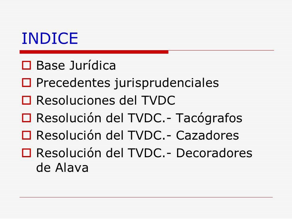 INDICE Base Jurídica Precedentes jurisprudenciales