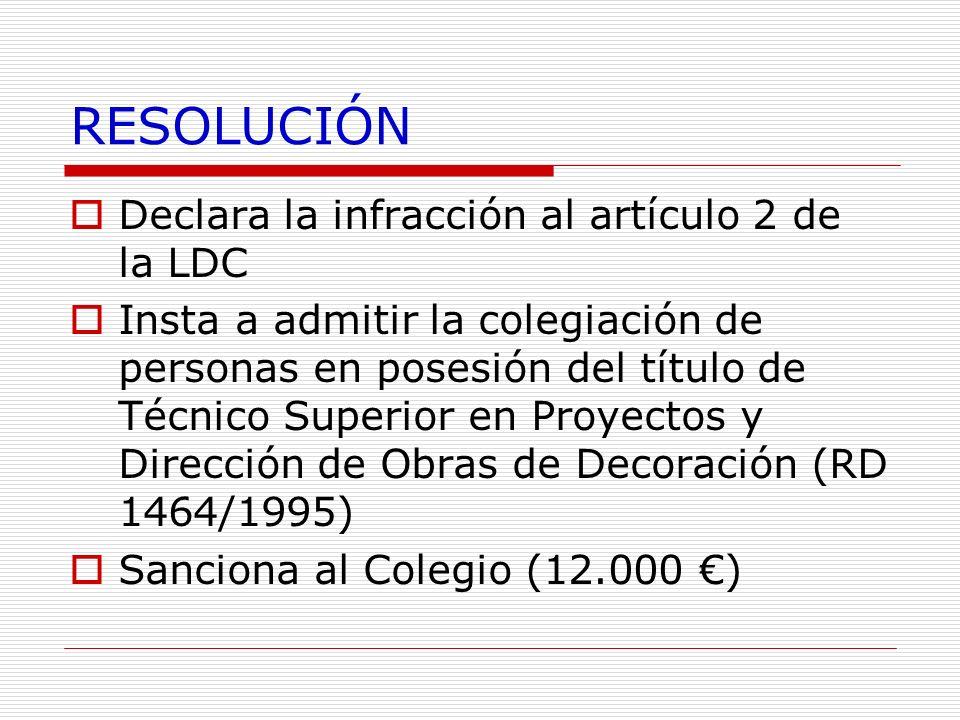 RESOLUCIÓN Declara la infracción al artículo 2 de la LDC