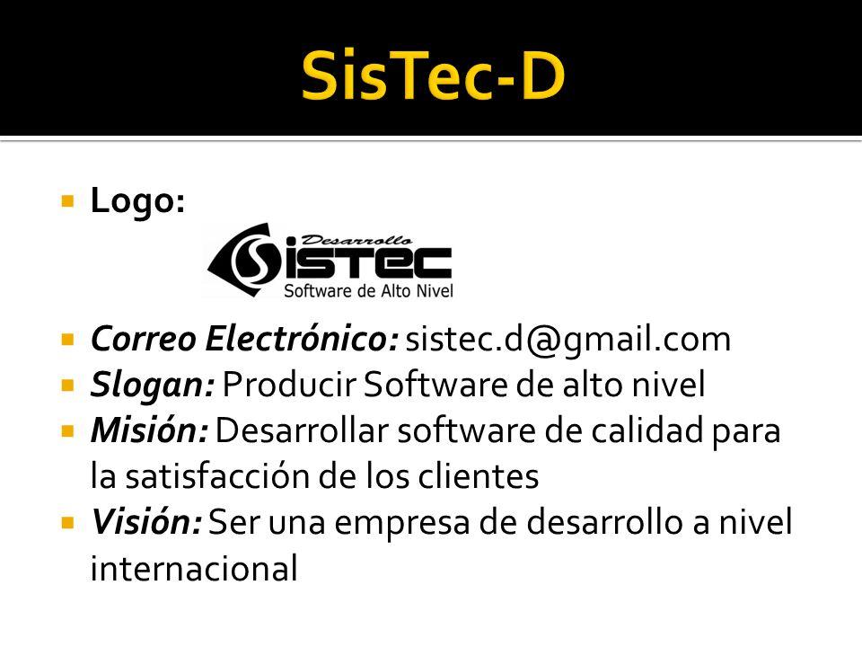 SisTec-D Logo: Correo Electrónico: sistec.d@gmail.com