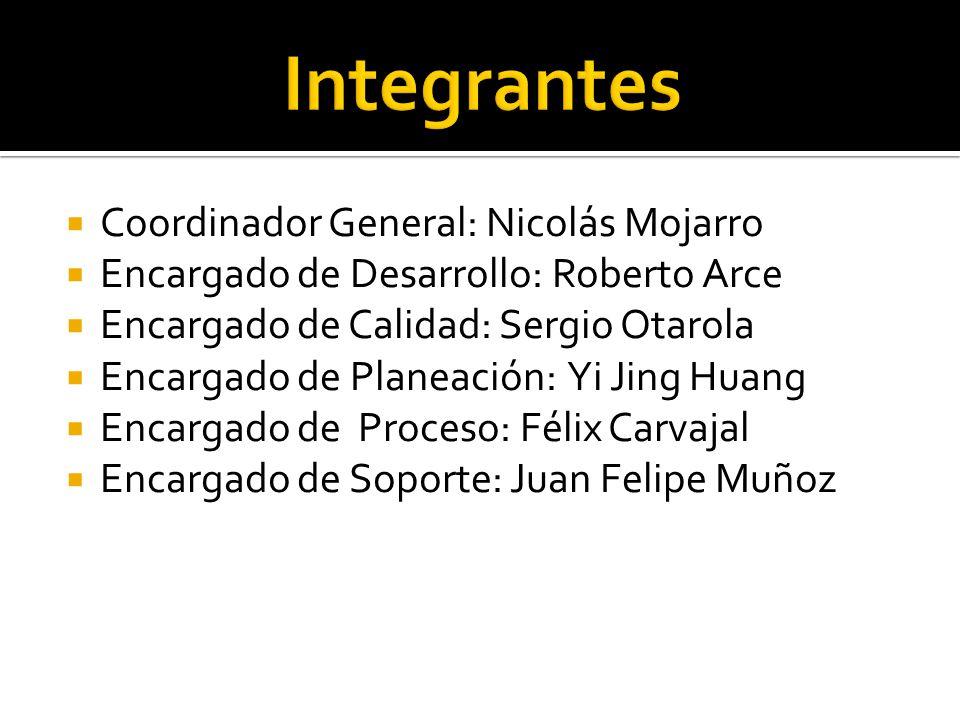 Integrantes Coordinador General: Nicolás Mojarro
