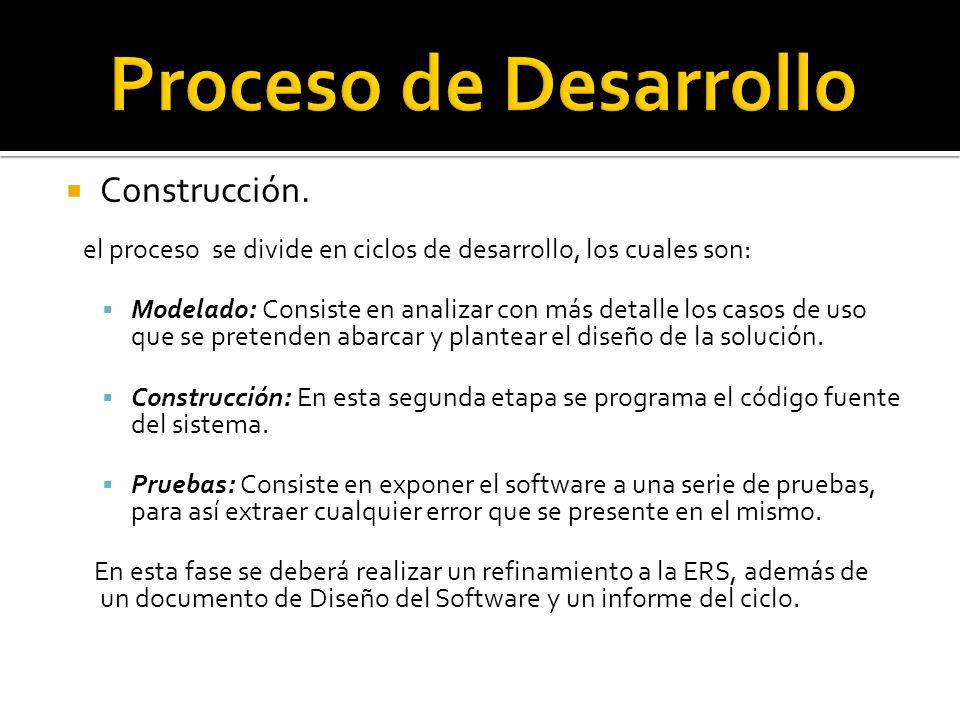 Proceso de Desarrollo Construcción.