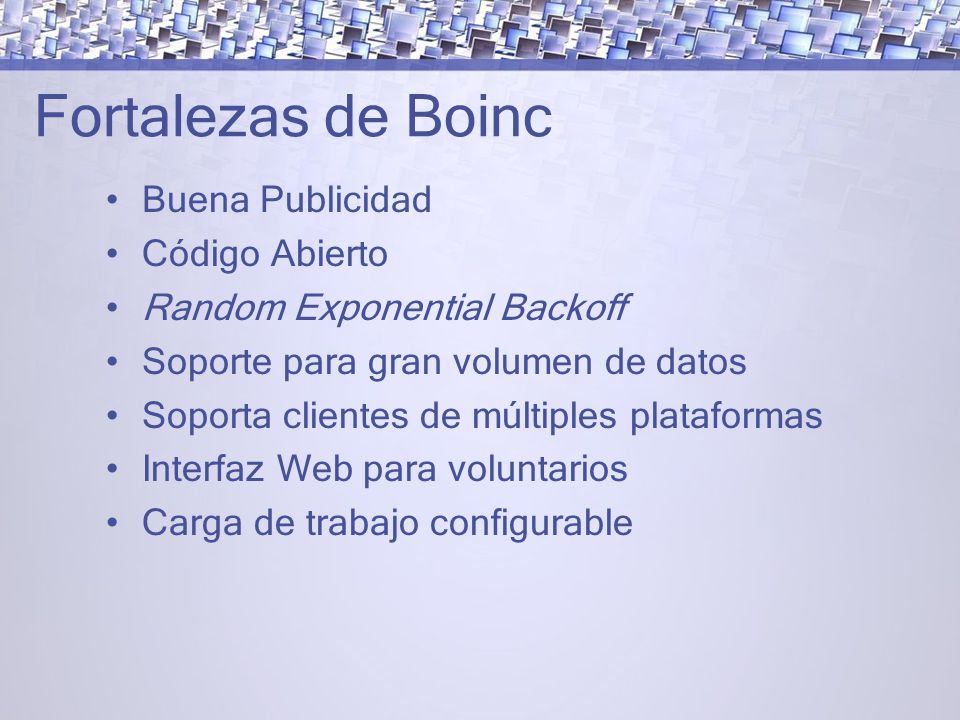 Fortalezas de Boinc Buena Publicidad Código Abierto