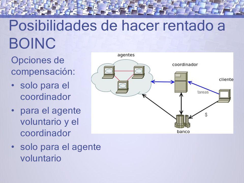 Posibilidades de hacer rentado a BOINC
