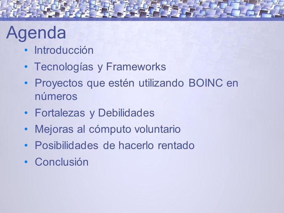 Agenda Introducción Tecnologías y Frameworks