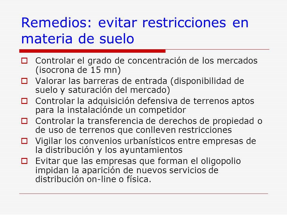Remedios: evitar restricciones en materia de suelo