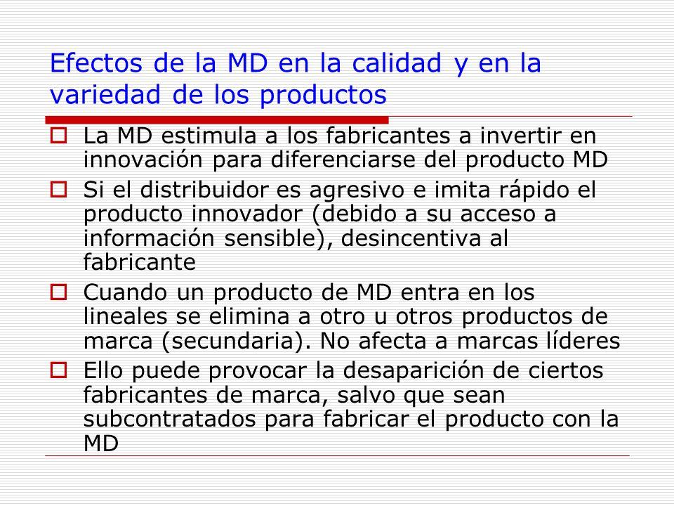 Efectos de la MD en la calidad y en la variedad de los productos