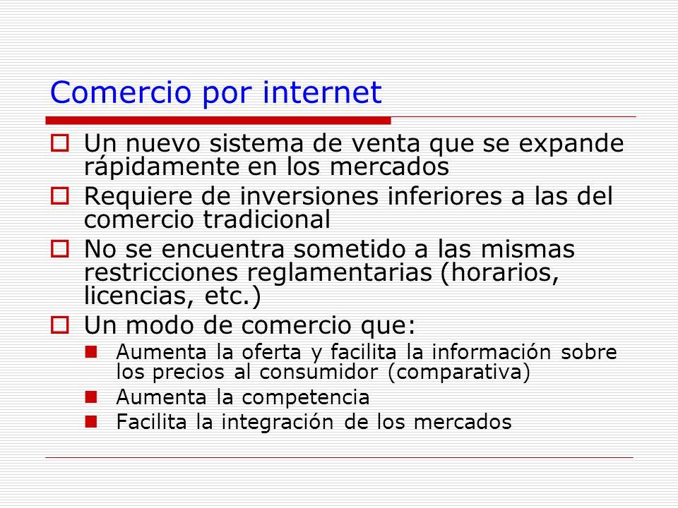 Comercio por internet Un nuevo sistema de venta que se expande rápidamente en los mercados.
