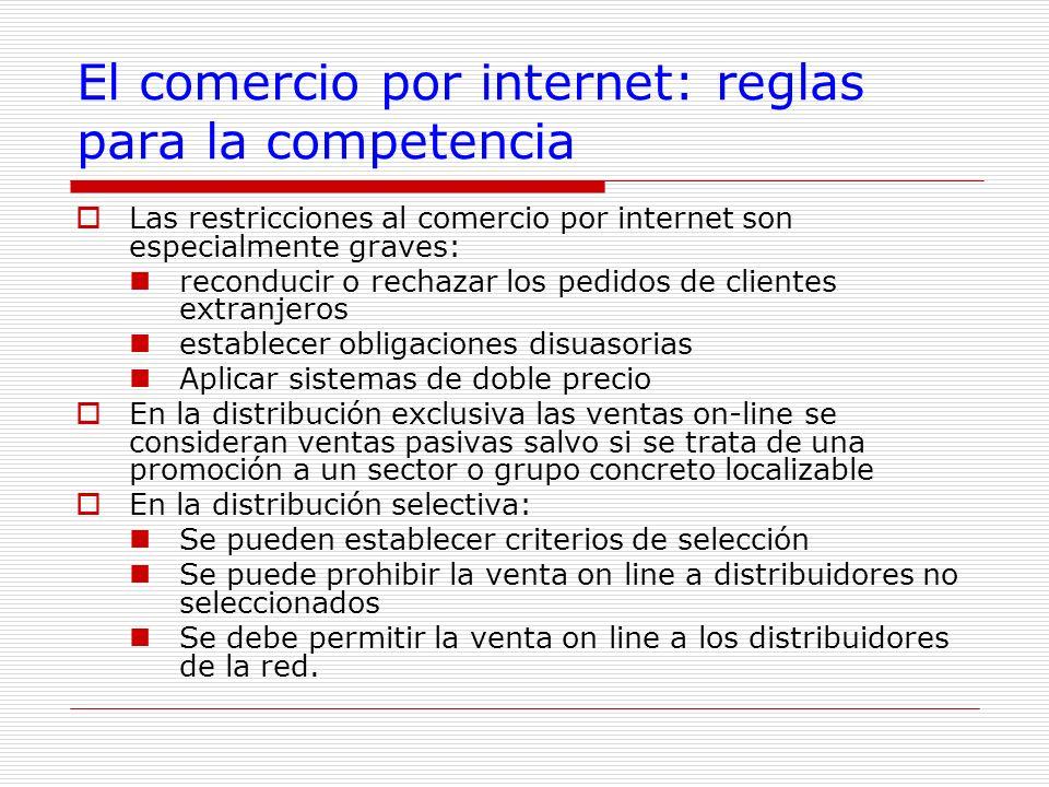El comercio por internet: reglas para la competencia