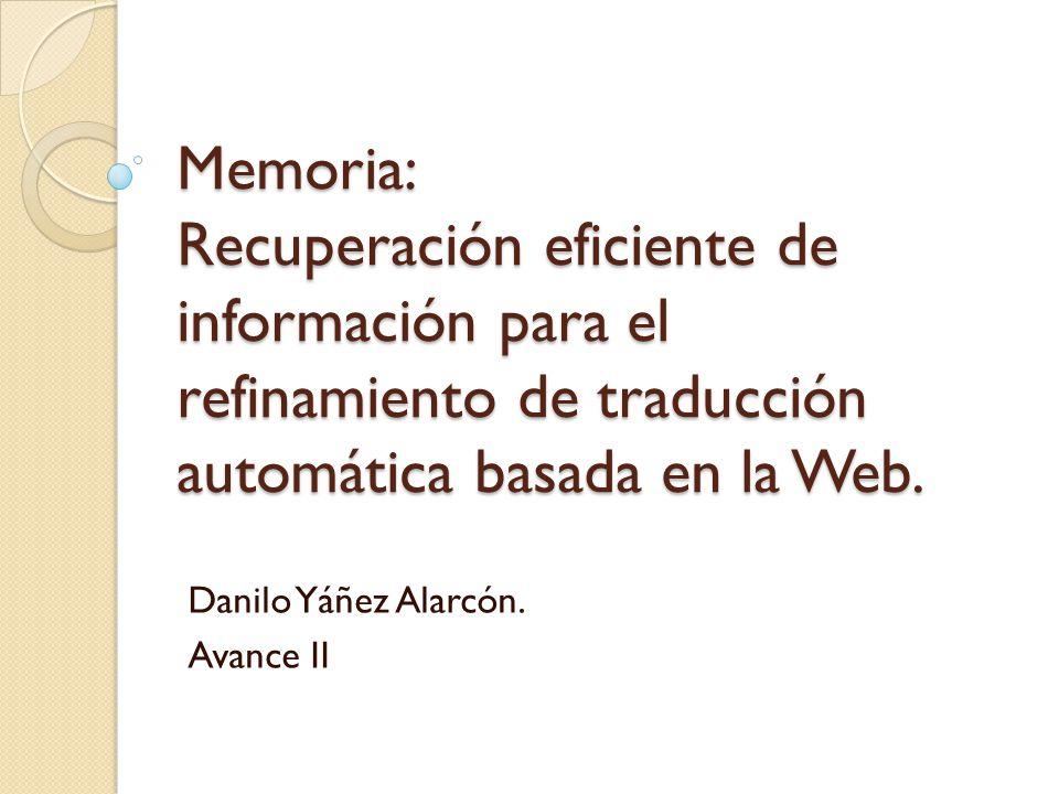Danilo Yáñez Alarcón. Avance II