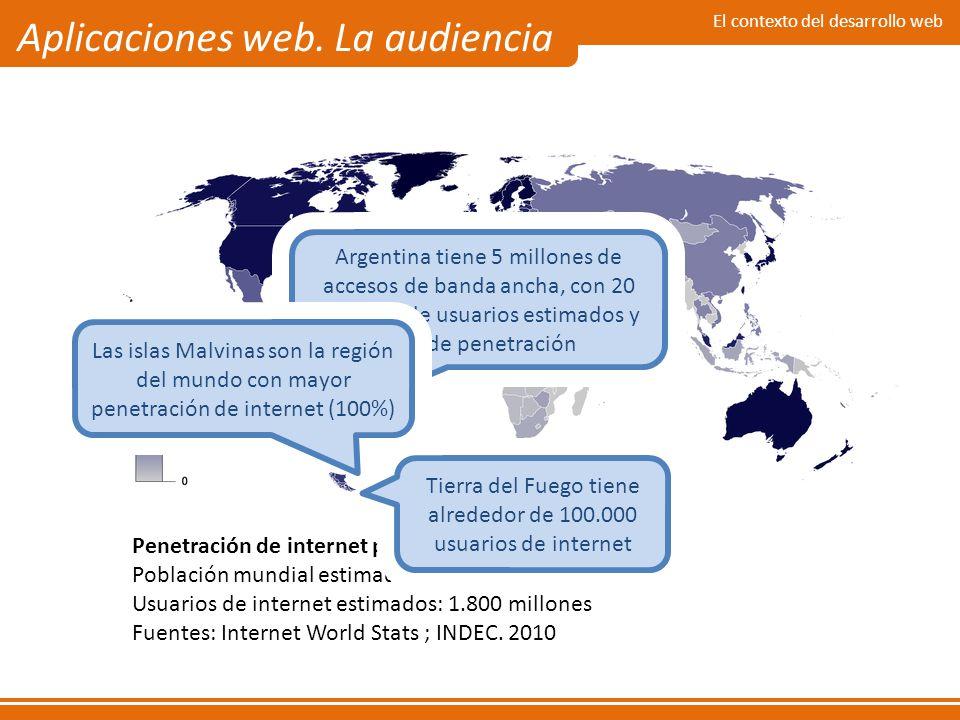 Tierra del Fuego tiene alrededor de 100.000 usuarios de internet
