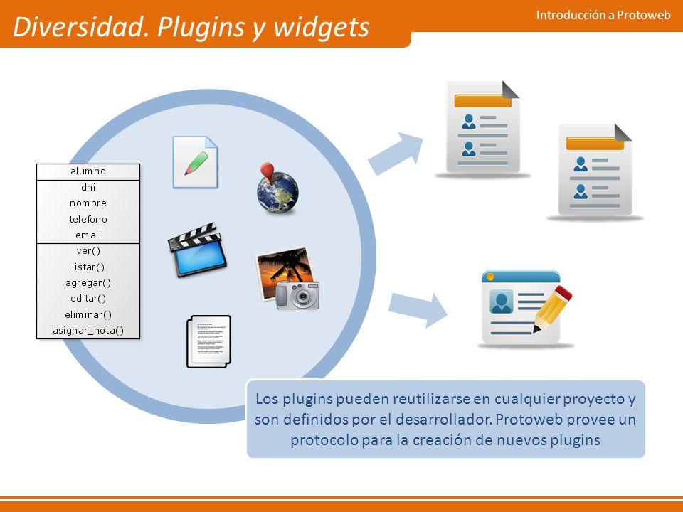 Diversidad. Plugins y widgets