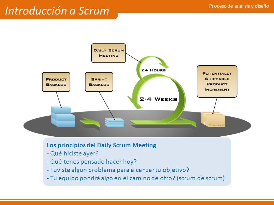 Introducción a Scrum Los principios del Daily Scrum Meeting