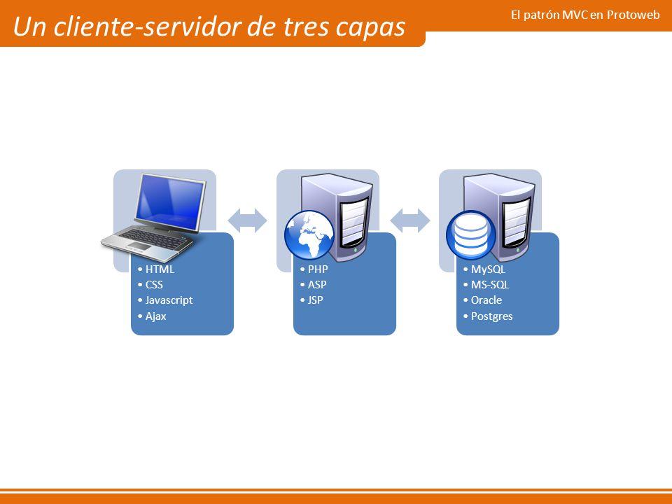 Un cliente-servidor de tres capas