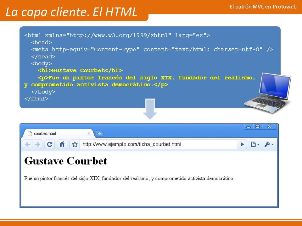 La capa cliente. El HTML El patrón MVC en Protoweb