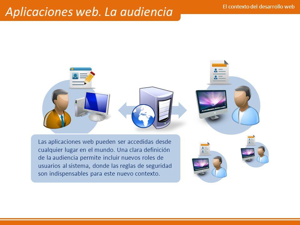 Aplicaciones web. La audiencia