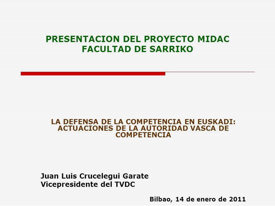 PRESENTACION DEL PROYECTO MIDAC FACULTAD DE SARRIKO