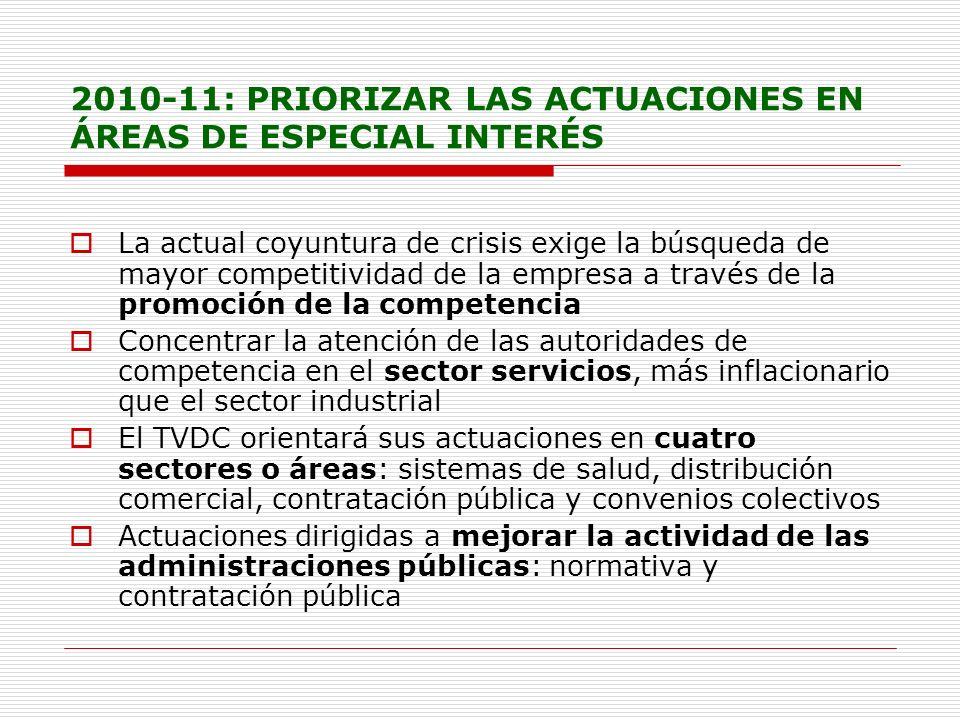 2010-11: PRIORIZAR LAS ACTUACIONES EN ÁREAS DE ESPECIAL INTERÉS