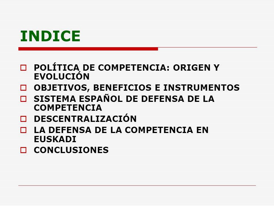 INDICE POLÍTICA DE COMPETENCIA: ORIGEN Y EVOLUCIÓN