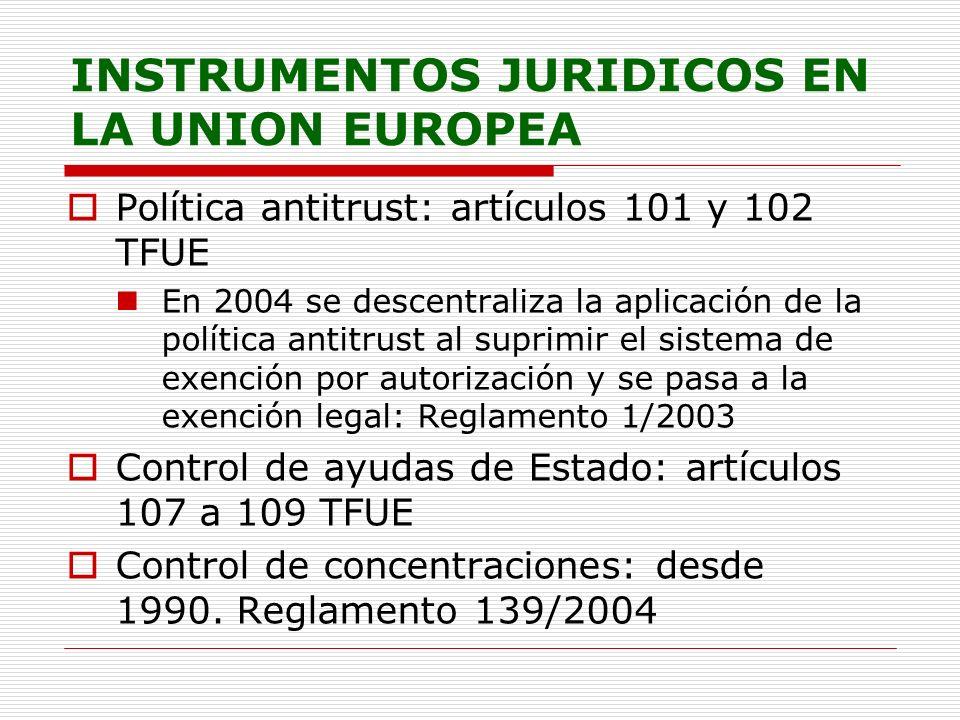 INSTRUMENTOS JURIDICOS EN LA UNION EUROPEA