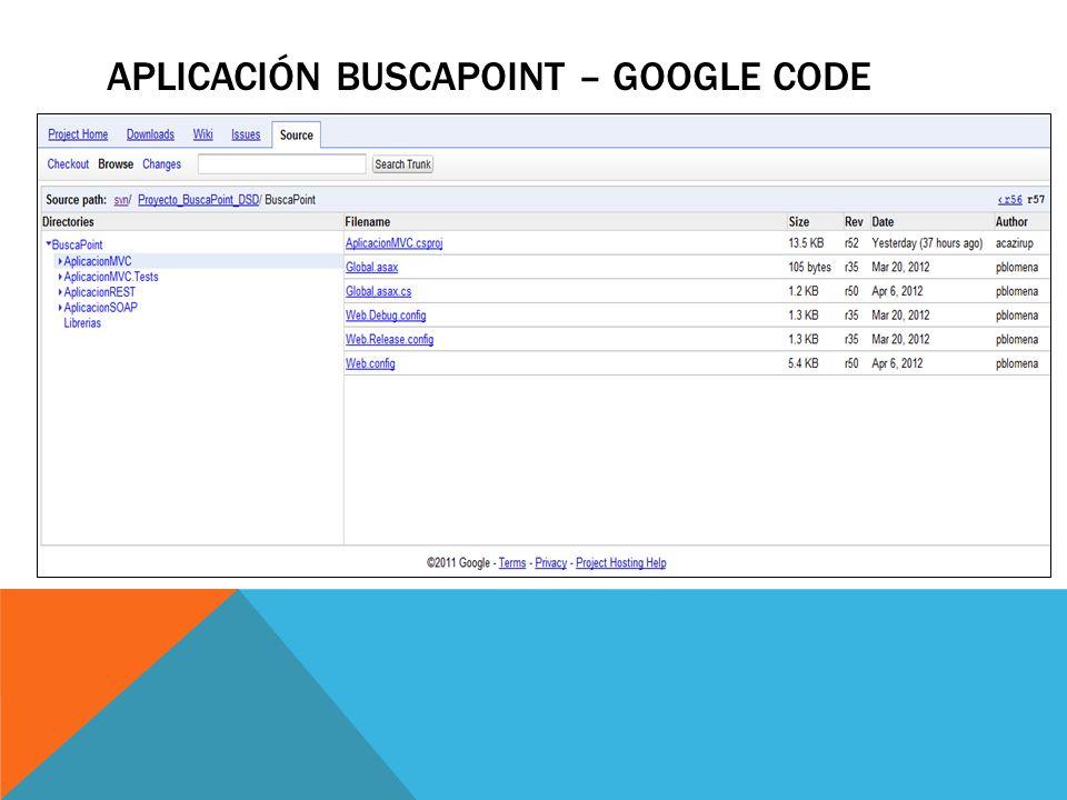 APLICACIÓN BUSCAPOINT – google code