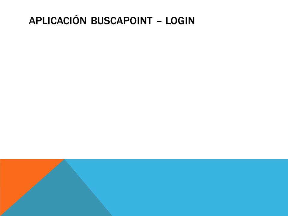 APLICACIÓN BUSCAPOINT – login