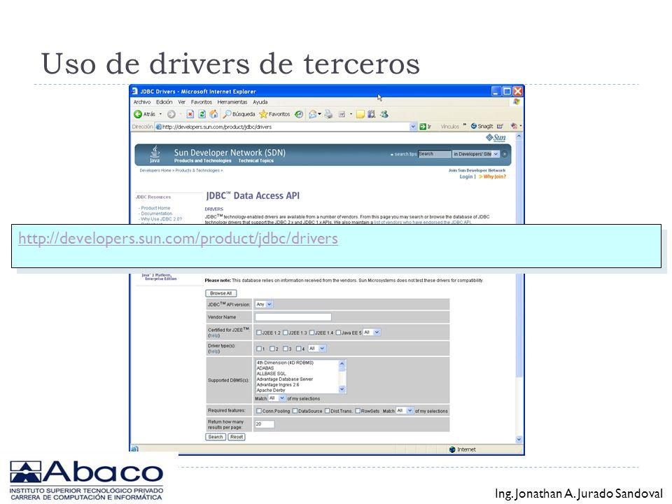 Uso de drivers de terceros
