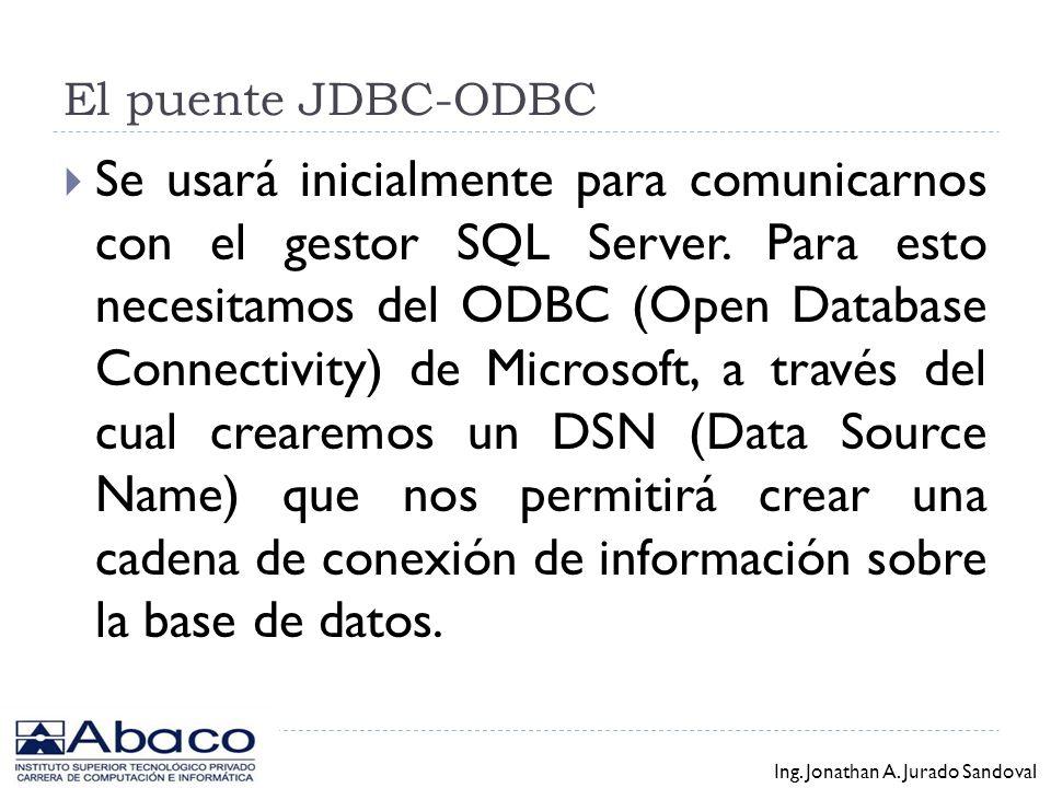 El puente JDBC-ODBC
