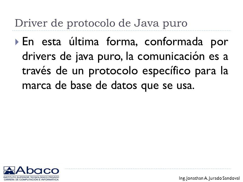 Driver de protocolo de Java puro
