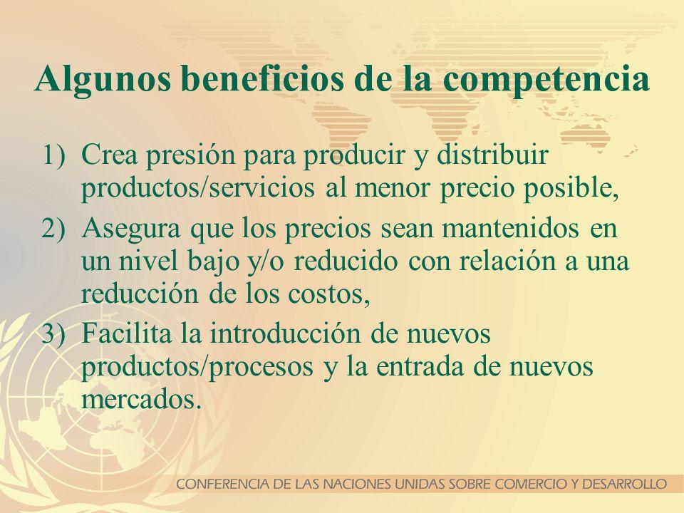 Algunos beneficios de la competencia