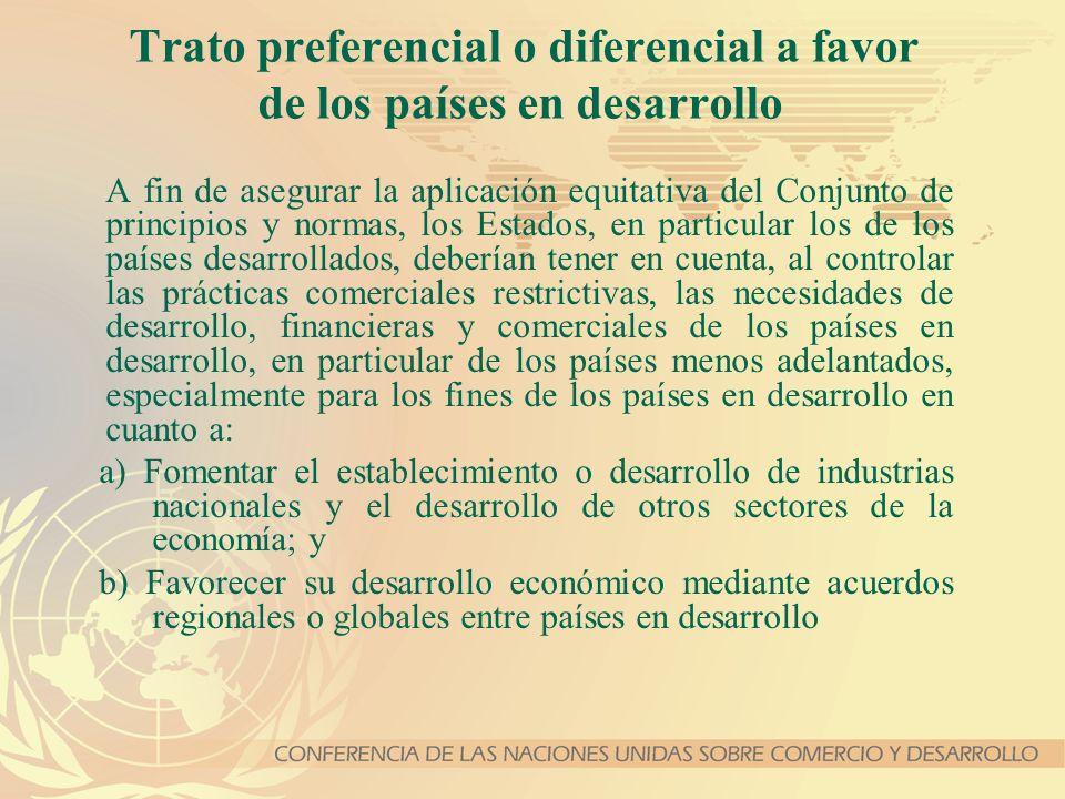 Trato preferencial o diferencial a favor de los países en desarrollo
