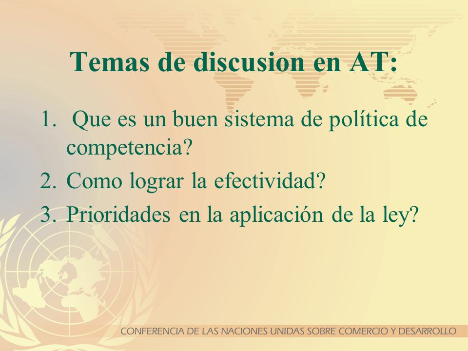 Temas de discusion en AT: