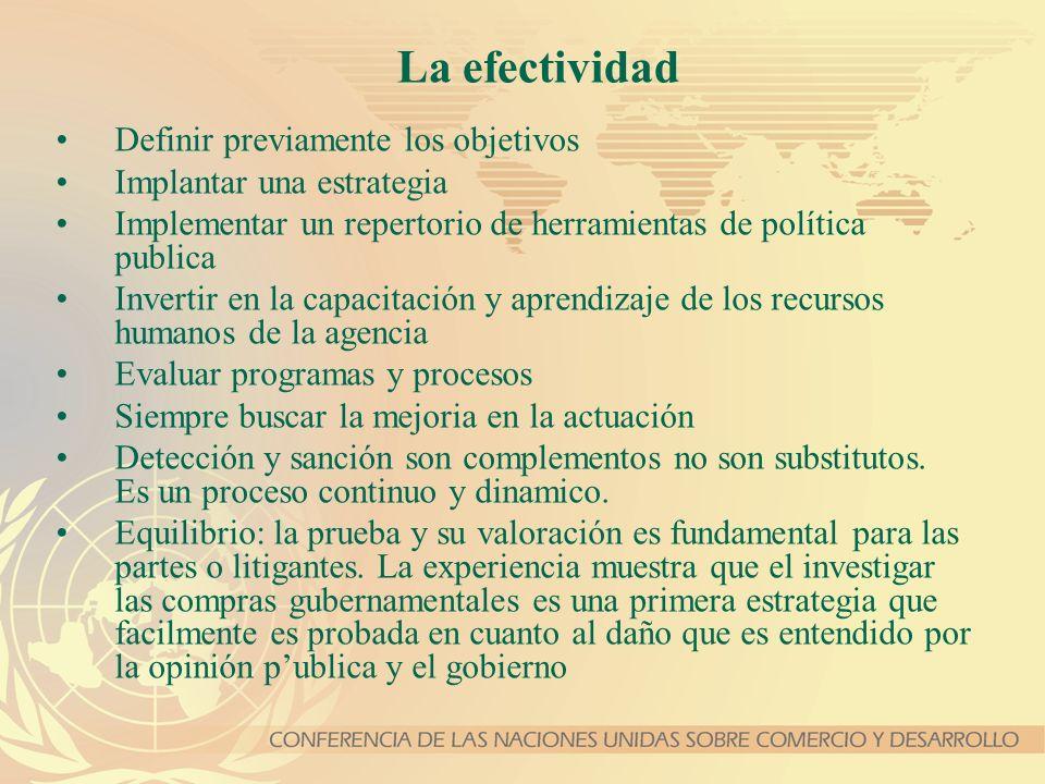 La efectividad Definir previamente los objetivos