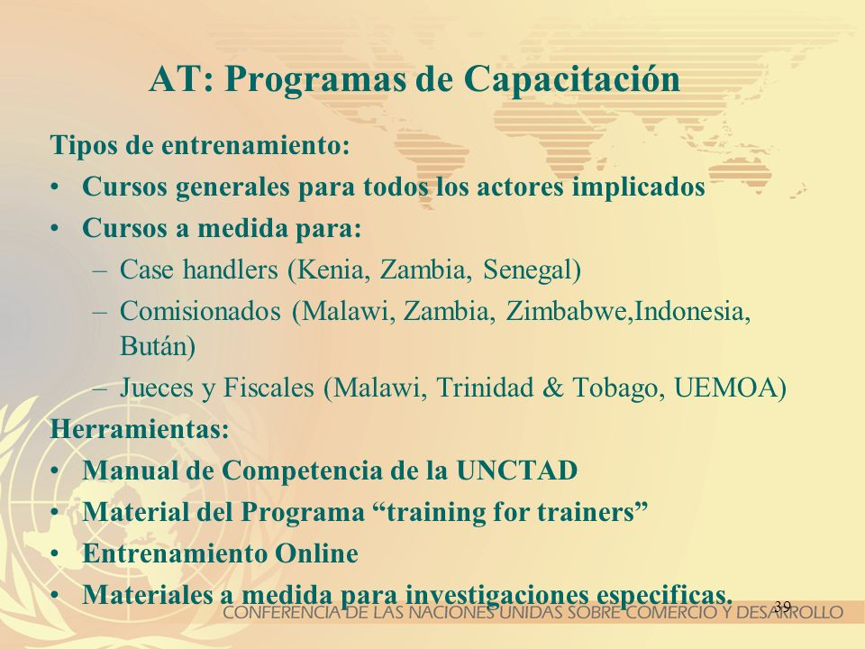 AT: Programas de Capacitación