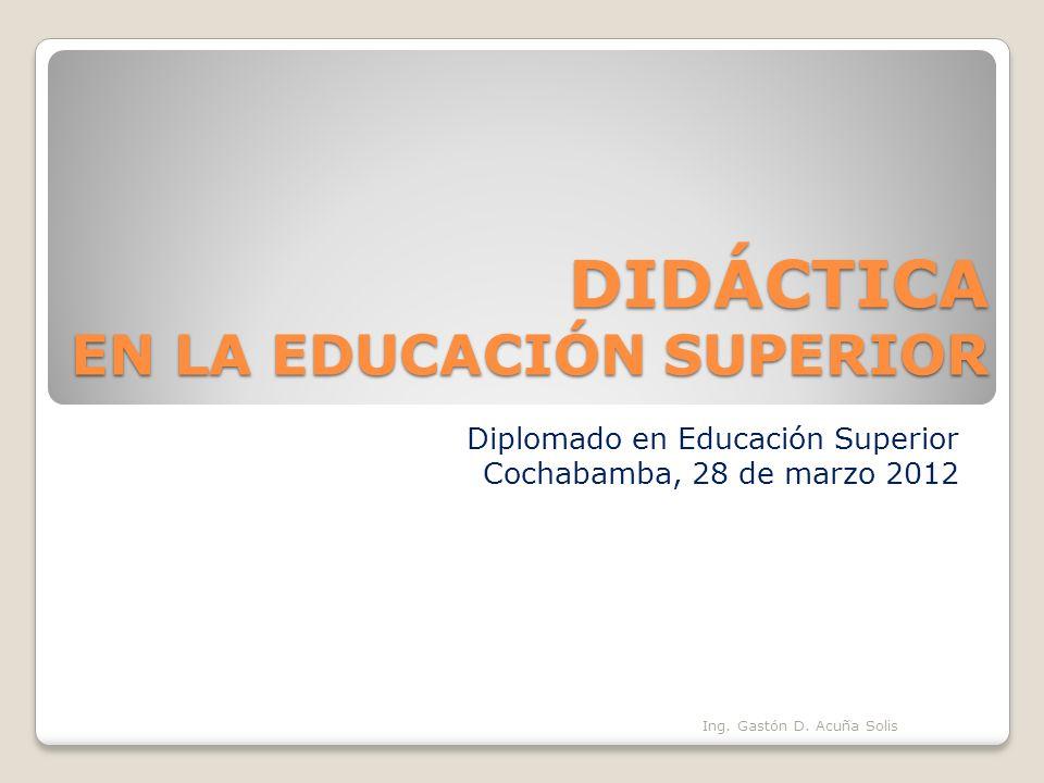 DIDÁCTICA EN LA EDUCACIÓN SUPERIOR