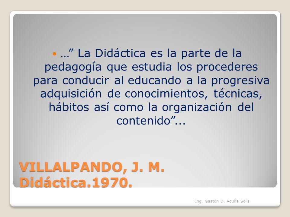 VILLALPANDO, J. M. Didáctica.1970.