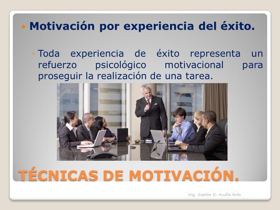 TÉCNICAS DE MOTIVACIÓN.